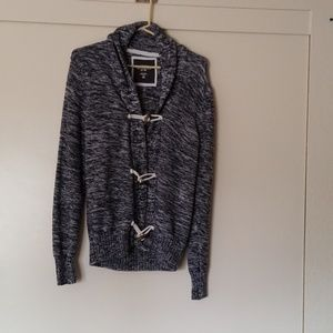 L.O.G.G. mens small blue and white sweater